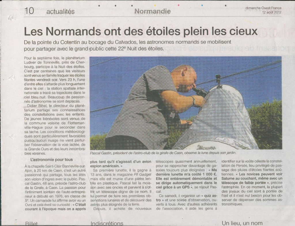 OF dimanche 12-8-2012